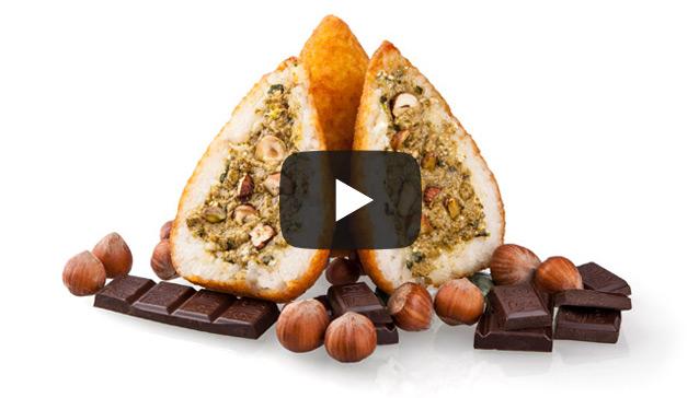Arancini czekoladowe i pistacjowe